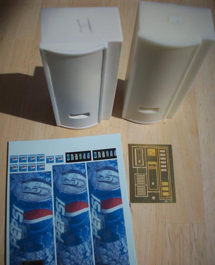 Accessoires Diorama : Le distributeur de boissons au 1:25 3