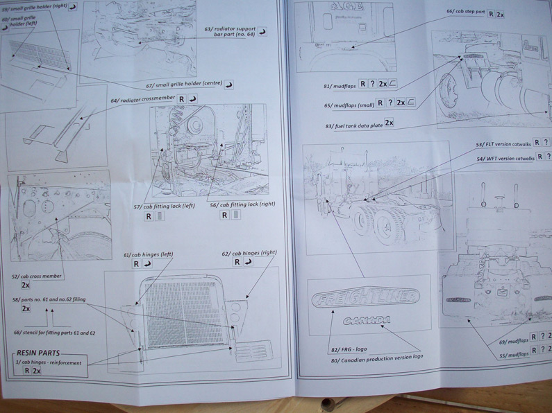 Kit  Photodécoupe White Freightliner 6